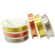 0.2/0.3/0.4/0.5/0.6/0.8/1mm 1Roll Alloy Cord Silver Gold Color Craft Beads Rope Copper Wires Beading Wire And LED Conductor