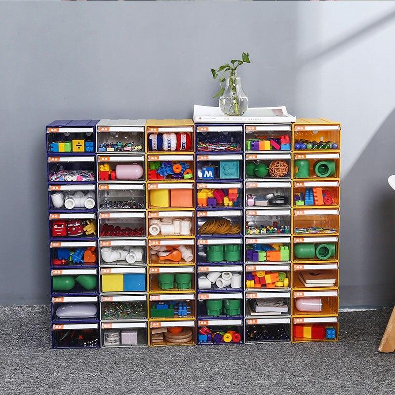 Lepining Space Saving Storage Box Assembleable Building Block Bricks Storage Case Clear Plastic Organizer Box For Kids Gift