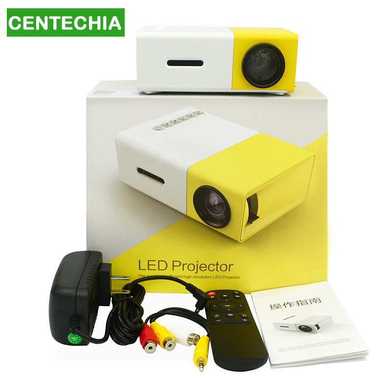 YG300 portable home mini projector mini halloween projectors with remote control cell phone full hd