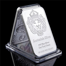 Scottsdale Zilver 999 Fijn Zilver Een Troy Ounce 1 Bars Edelmetaal In God We Trust Coin Met Display Case(China)