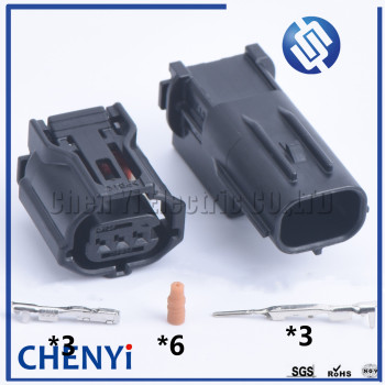 1 set 3 Pin male female 6189-1129 6188-4920 12353 Wire Connector Headlight Lamp Socket Camshaft Sensor Plug For Toyota Lexus image