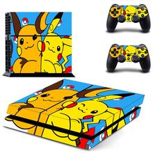 PS 4 Sticker Pokémon Play station 4 Stickers, PS4 Skin Decal Pegatinas Adesivo For PlayStation 4 console and 2 controller