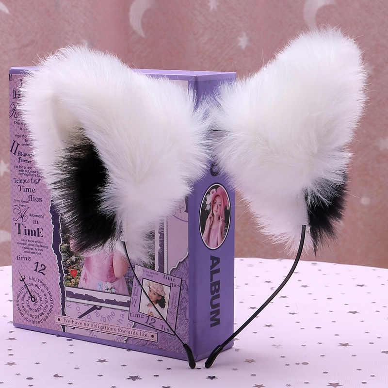 Cosplay headband ear anime festa de dança ouvido soquete com removível três-dimensional de cabelo orelhas de gato orelhas de raposa