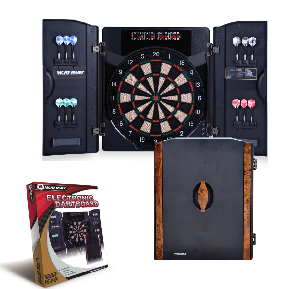 Electronic Dartboard With Cabinet Automatic Scoring Electronic Dart Tray Bar Folding Dart Box Professional Game