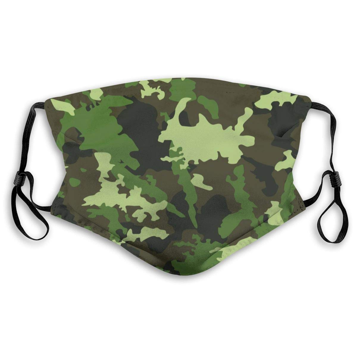 Camo Camouflage Washable Reusable Mask, Anti Dust Half Face Mouth Mask For Kids Teens Men Women With Adjustable Ear Loops