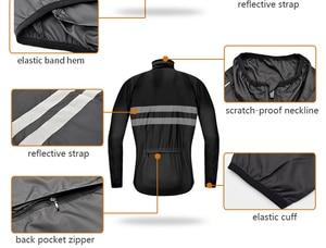 Image 4 - WOSAWE Cycling Jacket High Visibility MultiFunction Jersey Road MTB Bike Bicycle Windproof Quick Dry Rain Coat Windbreaker