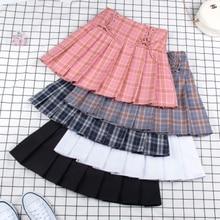 Спортивные теннисные юбки с высокой талией, короткое платье плиссированная теннисная юбка с подштанниками для девочек-подростков, тонкая школьная форма для Чирлидера