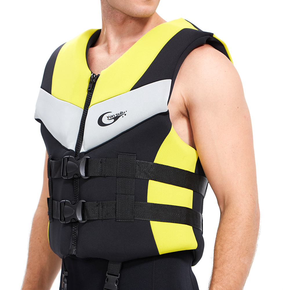 YONSUB Professional Adult Child Life Vest Neoprene Waterproof Rescue Men&Women Lifejacket For Fishing Drifting Swimming Boating