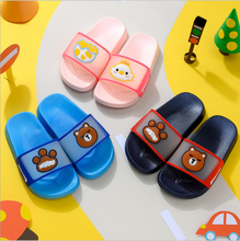 Cartoon Bear Baby Slippers for Kids Boy Girls Flip Flops Summer Beach Sandals Toddler Girls House Slippers Children Casual Shoes(China)