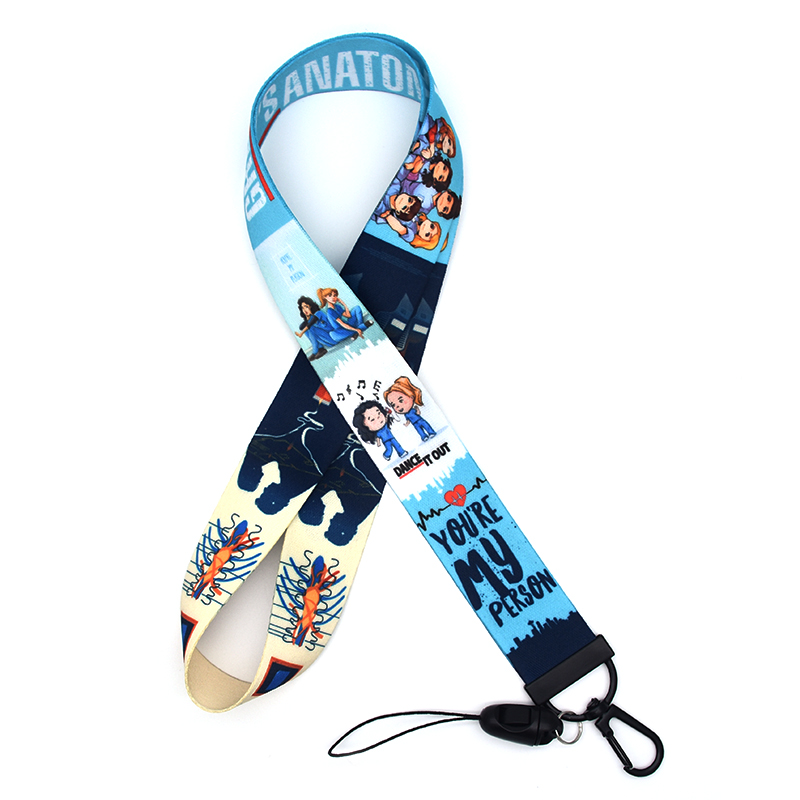 Cute Cartoon Lanyard For Phones Grey's Anatomy Lanyards Phone Case Lanyard For Keys Mobile Phone Neck Straps Badge Holders A191