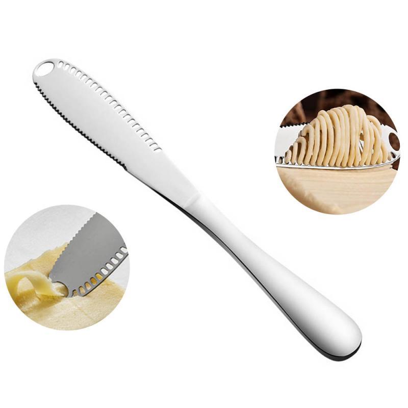 Descascador de queijo de aço inoxidável de prata 3 in1 cortador de queijo duro cortador macio manteiga faca com garfo ponta cortador cortador de queijo ferramentas