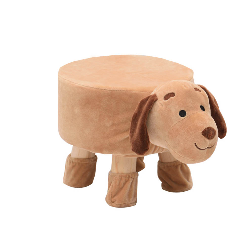 Wooden Cloth Sofa Stool Art Chair Cartoon Animal Monkey Shape Tea Table Wooden Small Stools Kids Stool Bench Baby Chair for Home