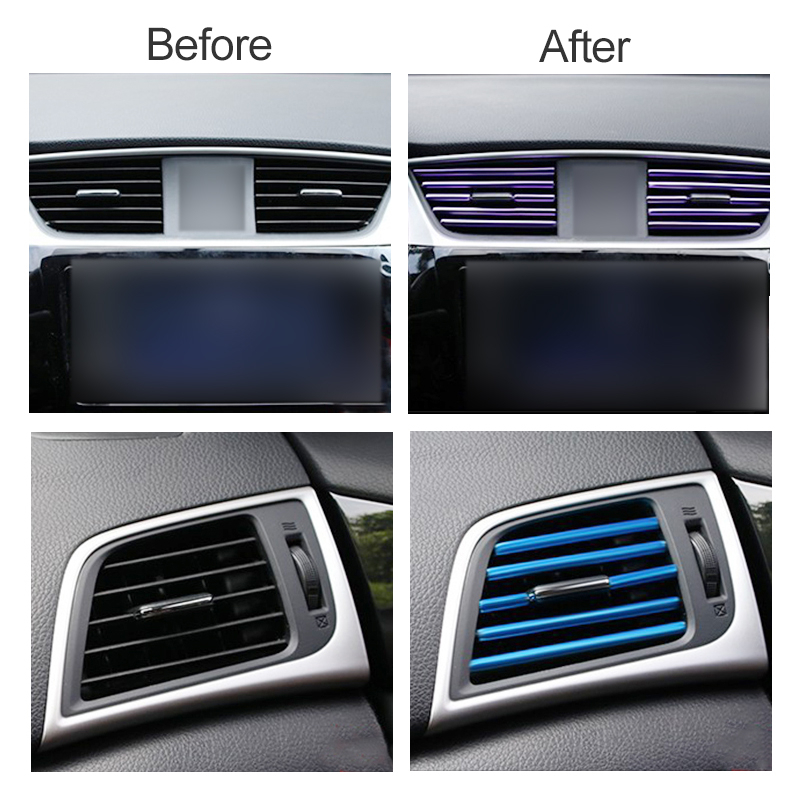 SPEEDWOW 10pcs Air Outlet Decoration Chrome <font><b>Trim</b></font> Strip <font><b>Bumper</b></font> For <font><b>BMW</b></font> m3 m5 e46 e39 e36 e90 e60 f30 <font><b>e30</b></font> e34 f10 e53 f20 e87 x3 image