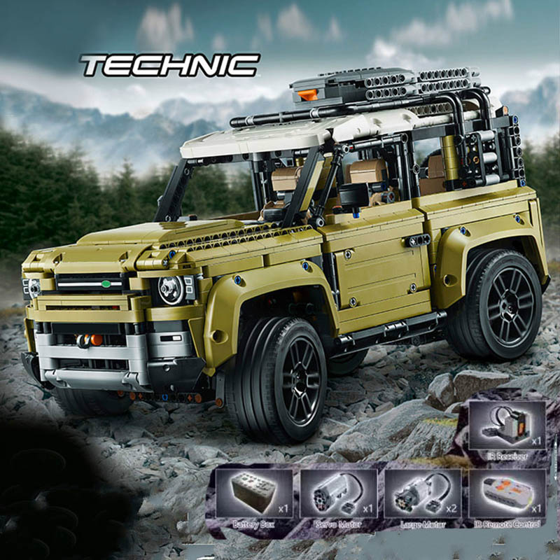 Legoinglys Technic Car Series Supercar Land Rover Guardian Off-road Vehicle Model Building Blocks Bricks Compatible 42110 Toys