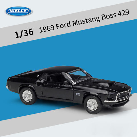 welly diecast 1 36 escala classico carro 1969 ford mustang chefe 429 puxar para tras
