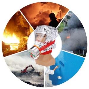 Image 5 - Fire Eacape Gezichtsmasker Zelfreddingstoestellen Respirator Gas Masker Rook Beschermende Gezicht Cover Persoonlijke Vluchtweg Kap