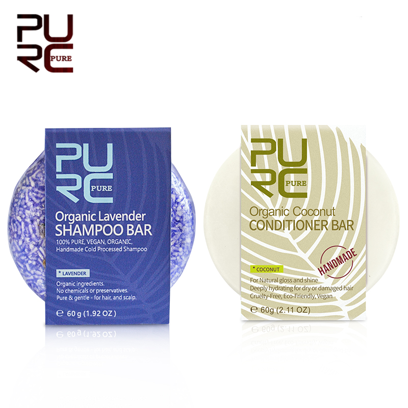 purc organico artesanal lavanda shampoo barra de cuidados com o cabelo conjunto hidratante anti caspa prurido