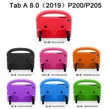 цена на Children Kids Safe Foam EVA Shockproof Case for Samsung Galaxy Tab A 8.0 P200 P205 2019 Tablet Stand Handle Protect Cover