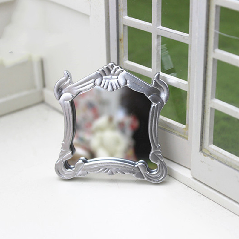 1/12 Dollhouse Miniature Accessories Mini Resin Hanging Mirror Simulation Furniture Model Toys For Doll House Decoration