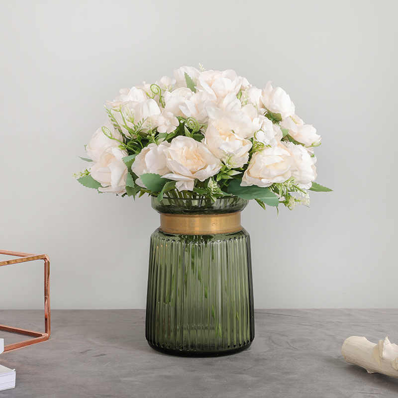 7 Hoofden Pioen Kunstbloemen Zijden Bloemen Bruiloft Home Decoratie Nep Bloemen Vallen Decoraties Faux Bloemen