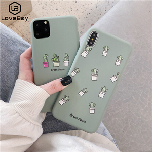 Lovebay Phone Case For iPhone 11 6 6s 7 8 Plus X XR XS 11Pro Max Cute Cartoon Letter Deer Smiley Face Soft TPU For iPhone Cover(China)