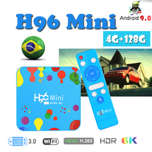 Smart tv box Media-Player H96 Mini Allwinner H6 Quad Core 6K android 9.0 4G 128G Wifi Bluetooth H.265 set top