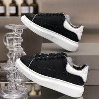 Autumn New Women's Small White women Shoes Leather Breathable Muffin Shoes Thick soled Lace Sports Shoes mcqueen shoes