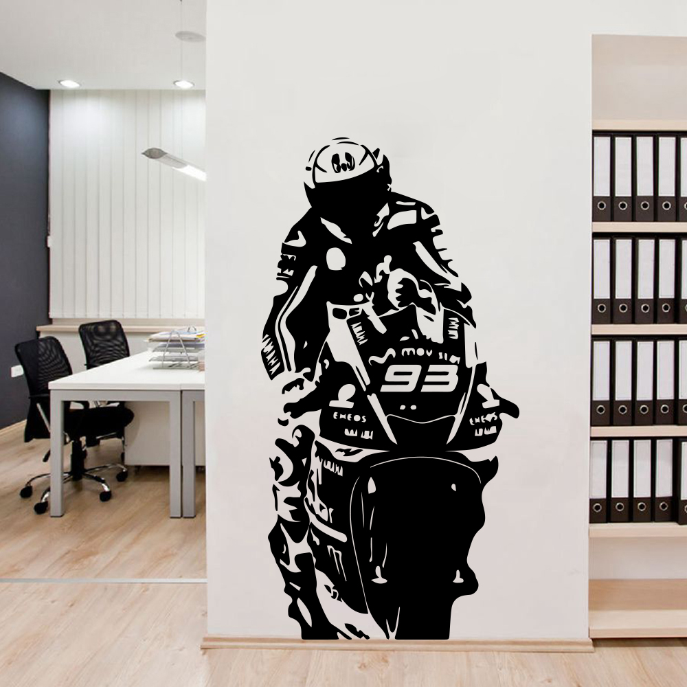 Us 4 63 12 Off Large Size Motorcycle 93 Vinyl Wall Sticker Modern Stickers For Living Room Decoration Decal Bedroom Decor In From