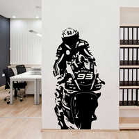 Large Size Motorcycle 93 Vinyl Wall Sticker Modern Stickers For Living Room Decoration Wall Decal Bedroom Decor