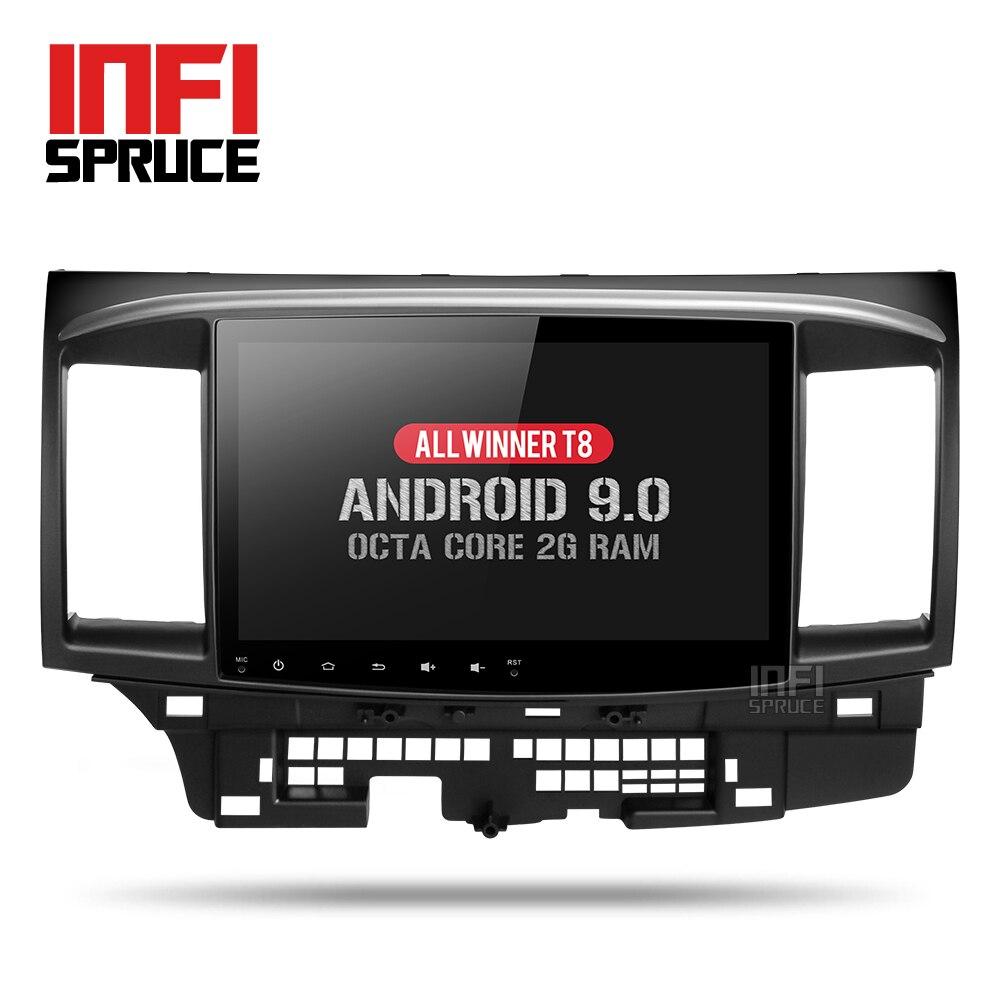 Car DVD Video-Player Gps Radio Car-Navigation Android 9.0 Mitsubishi Lancer 2-Din 3G/4G