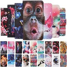 Magnetische Leder Fall sFor Samsung Galaxy A51 Fall A21s EINE 51 A71 A31 A41 A01 A21 A11 Brieftasche Flip Gemalt cartoon Katze Abdeckung Etui