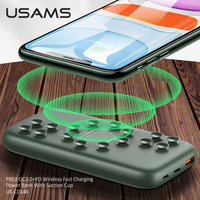 USAMS Qi Wireless Power bank 10000mAh PowerBank Charger for iPhone Huawei Xiaomi Samsung fast charging QC 3.0 18W PD Portable External Battery