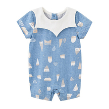 Cotton Jumpsuits Overall Romper Short-Sleeve Toddler Costume Printed Newborn Girls Infant Boys