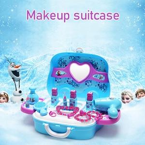 Image 3 - Disney, brinquedos para meninas, princesa, frozen, vestidos, maquiagem, conjunto, brinquedos infantis brinquedos, brinquedos