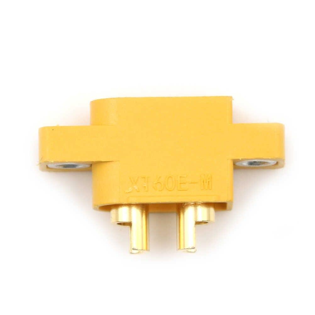 זכר תקע מחבר עבור RC מודלים Multicopter קבוע לוח צהוב DIY חילוף חלק שלט רחוק צעצוע חלקי XT60E-M Mountable XT60