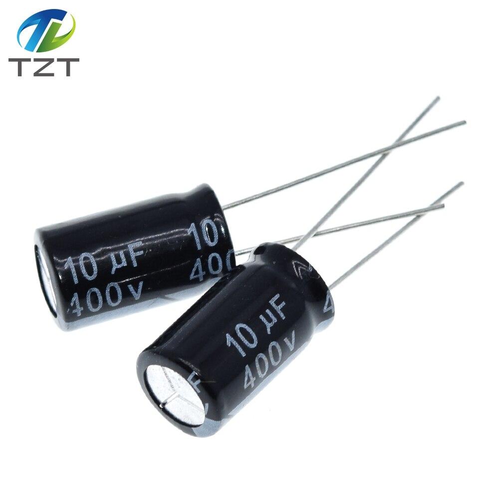 10 шт. высококачественный электролитический конденсатор 400V10UF 10*17 мм 10 мкФ 400V 10*17