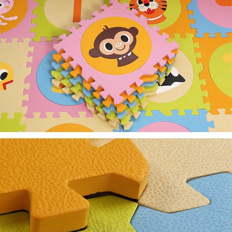 Animaux bébé ramper tapis Puzzle EVA mousse 1.3cm épais enfants tapis jouets jouer tapis environnement verrouillage Split enfants tapis - 5