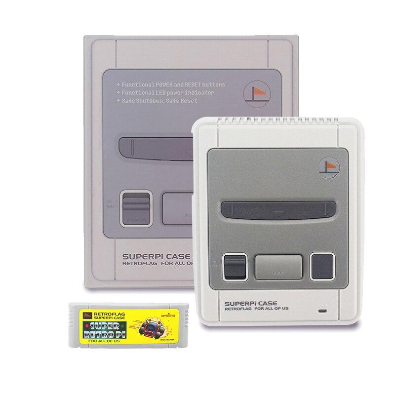 Image 4 - Чехол для CASE J Retroflag SUPERPi с картриджем   геймпадом   sd  картой 32 ГБ   кабель HDMI   адаптер питания для Raspberry Pi 3 B   /3BАксессуары для демонстрационных стендов