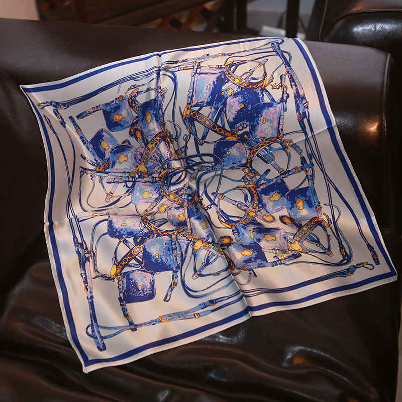 New Silk Scarf Mulberry Silk Blue