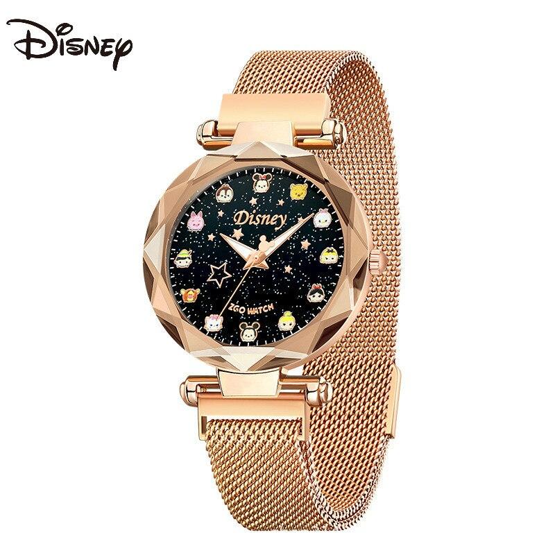 Оригинальный Disney 2020 новый часы женский Ins Wind Student водонепроницаемый женский тонкий ремешок маленький звезда воздух качество простой