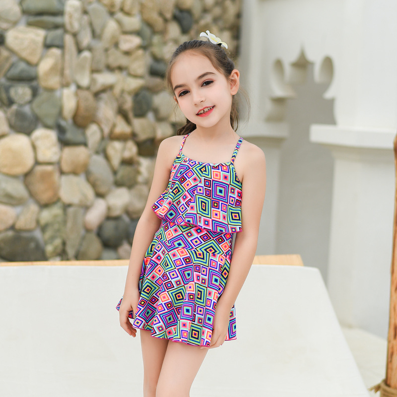 KID'S Swimwear GIRL'S Big Boy Princess Sun-resistant Dress-Baby South Korea Girls Bubble Hot Spring Swimming Suit
