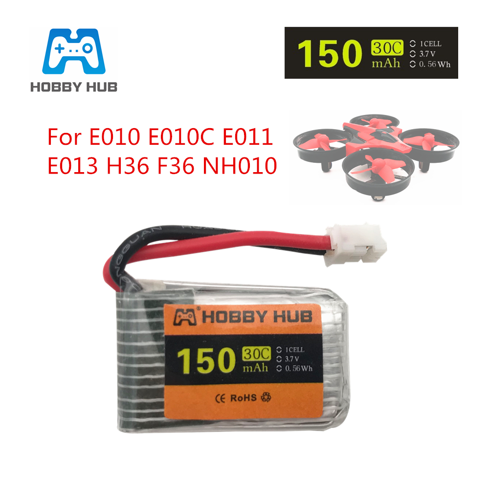 3.7v <font><b>150mah</b></font> 30C For E010 E010C E011 E013 JJRC H36 F36 NH010 <font><b>Battery</b></font> RC Quadcopter Spare parts <font><b>150mah</b></font> <font><b>3.7</b></font> <font><b>V</b></font> LIPO <font><b>Battery</b></font> image