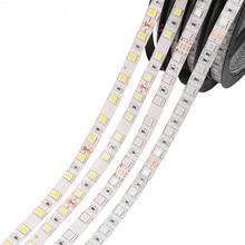 Светодиодная лента SMD 2835 5050, 5 м, 12 в постоянного тока, гибкая светодиодная лента, белый теплый белый цвет, 60 светодиодов/м, RGB водонепроницаемы...