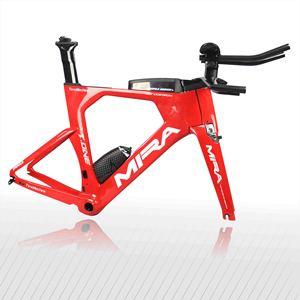 Cadre de vélo TT en fibre de carbone de conception supérieure Miracle, cadre de vélo de triathlon en carbone T-ONE