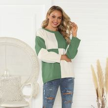 Осенне зимний контрастный модный Повседневный свитер в европейском
