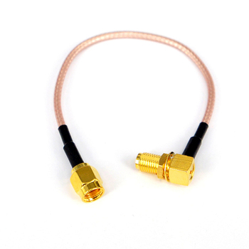 цена на 10pcs RF connector  cable   SMA Female Rightangle to RP SMA Male Coax  Antenna Adapter Pigtail Extension Cord RF Connector Cable