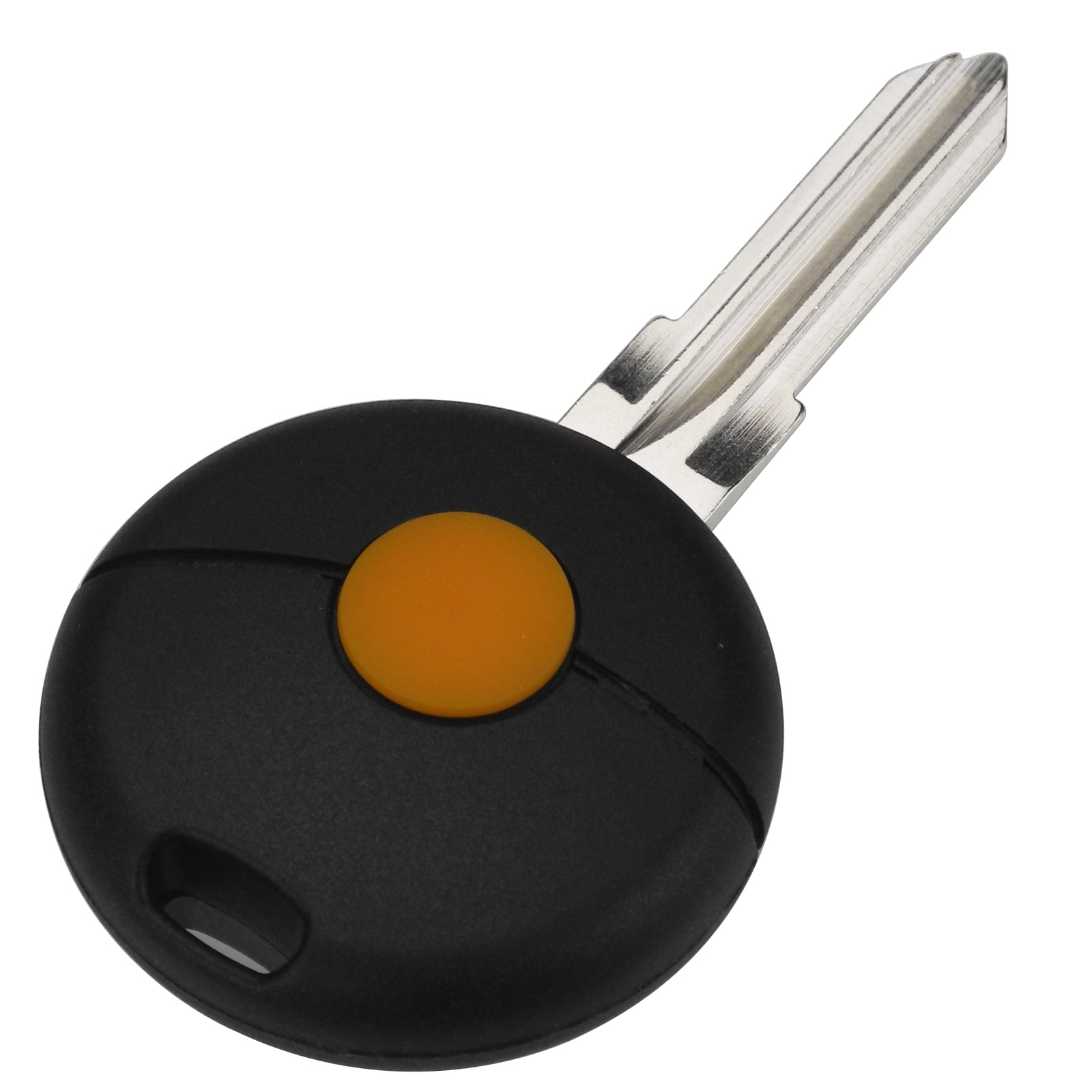 Carcasa de llave de coche remota de 1 botón de Jingyuqin para Benz Smart para dos llaves de repuesto 1998-2012 de EE. UU. funda con tapa para llave de coche