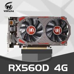 Veinida RX560D 4 Gb GDDR5 128bit Pci-E 3.0 Hdmi Displayport DVI-D 1176/6000 Mhz Scheda Grafica per Nvidia Geforce giochi