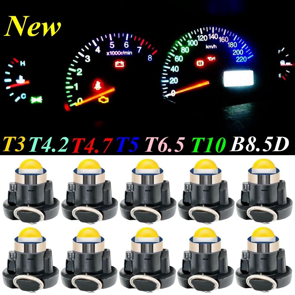 10 шт. T3 T4.2 T4.7 T5 T6.5 T10 W5W B8.5D B8.4D B8.3D светодиодный светильник для приборной панели