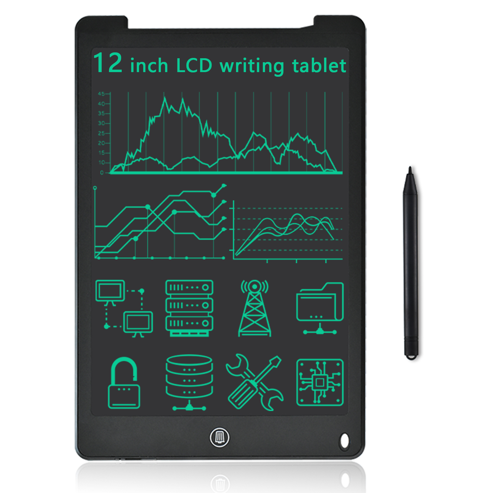 12Inch LCD Writing Tablet Doodle Drwaing Board Early Education Toys With Magnet Personalized Gift For Boys & Girls